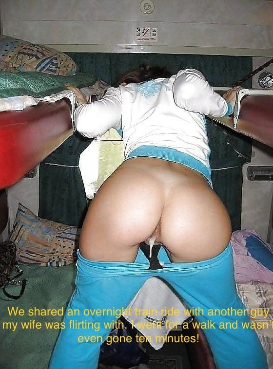 Hotwife Caption shared wife in over night train